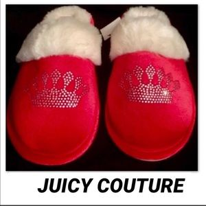 JUICY COUTURE Rhinestone Crown Logo Slipper